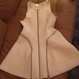 Nasty Gal neoprene white/cream dress